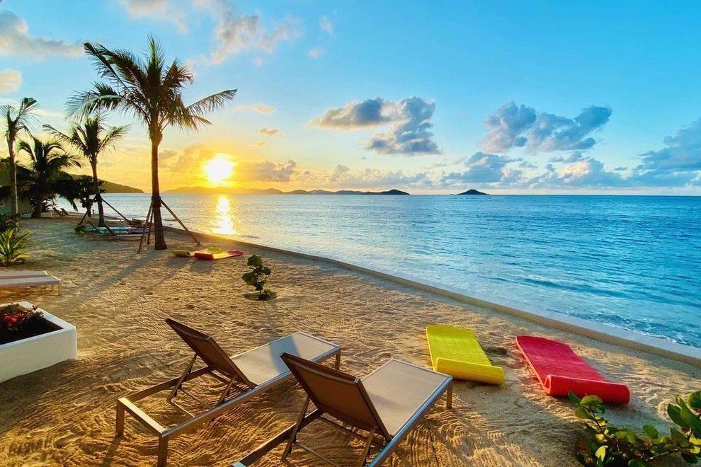 The beach at Mango Bay Resort on Virgin Gorda