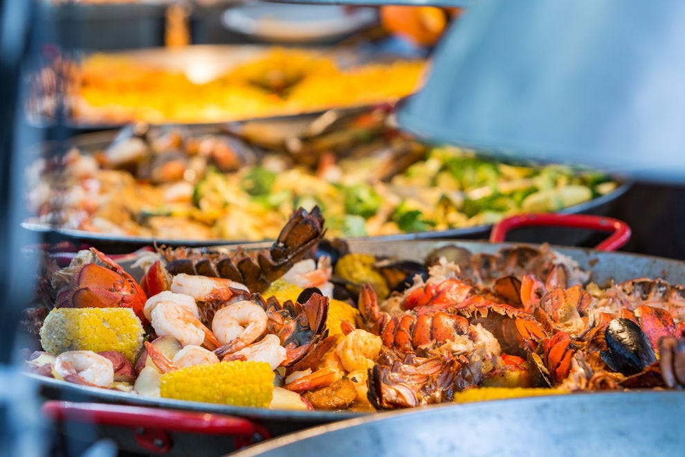 A Lowcountry boil is just one of many dishes highlighting Gulf Coast seafood at the Pensacola Seafood Festival