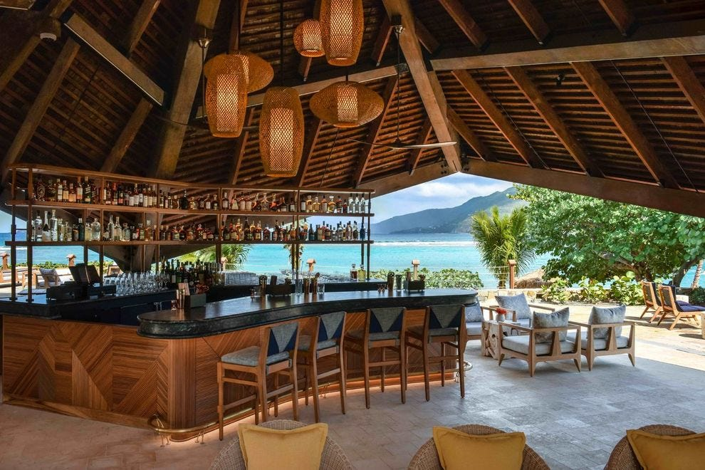 It would take a while to work your way through all the rums at the resort
