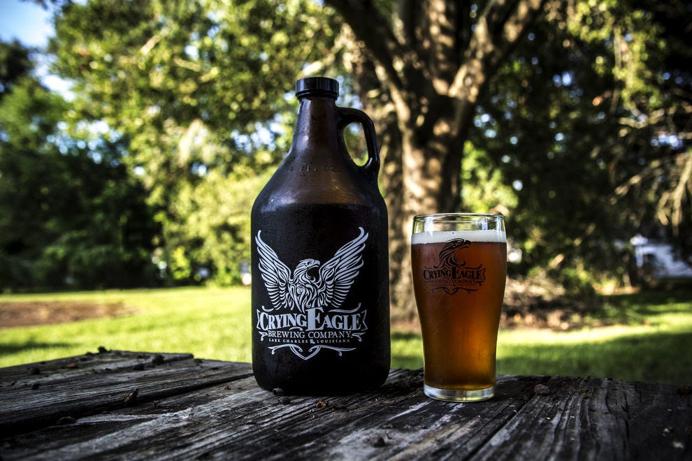 Crying Eagle Brewing Company also offers growlers