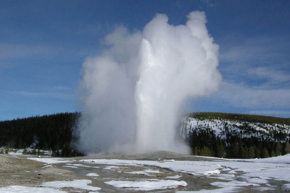 Watch Old Faithful in real time via webcam
