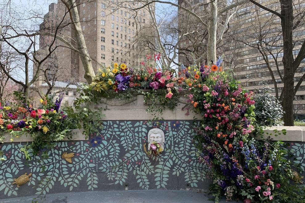 "Philadelphia's Rittenhouse Square got ""flower bombed"""