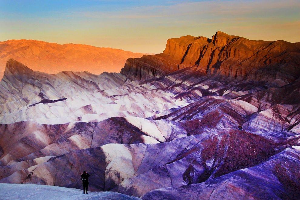 View of Zabriskie Point at Death Valley