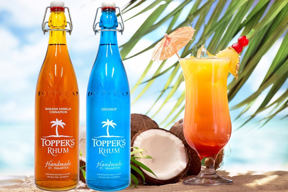 Paradise Found is a sweet treat crafted with Topper's Rhum distilled in Sint Maarten