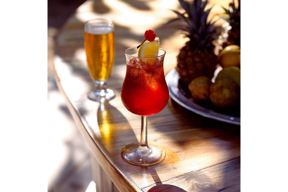 Packing a potent double-rum punch, Liz's Rum Punch is a fan favorite at Jamaica's Round Hill Hotel