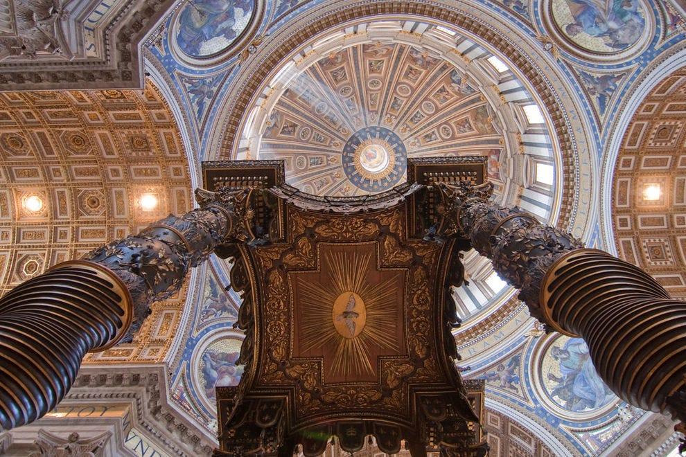 St. Peter's Baldachin, or bronze canopy
