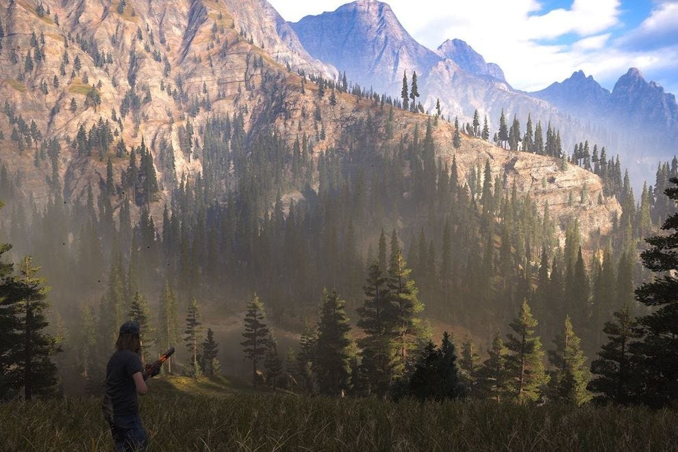 Montana's mountainous majesty, faithfully recreated in Far Cry 5
