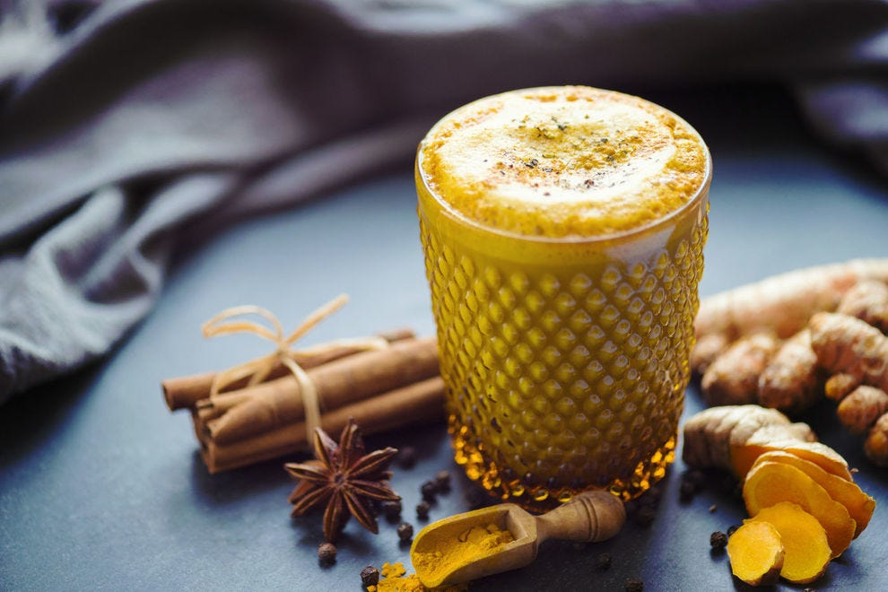 Golden milk, a traditional Indian drink, gets its color from turmeric