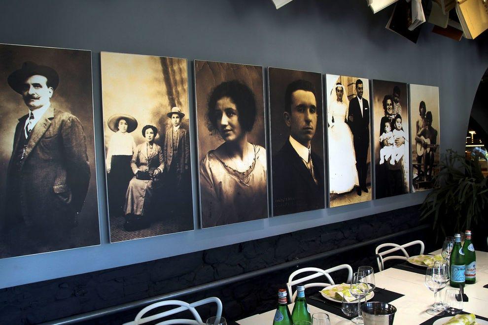 Inside Bocelli's restaurant