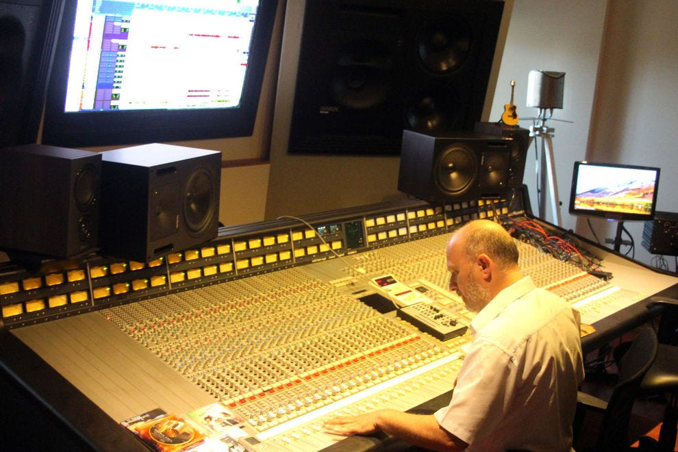 Home studio where Bocelli records