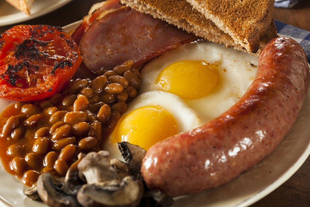 You won't walk away hungry after an English breakfast