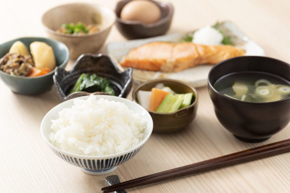 The mild flavors of gohan and miso shiru make for a calming breakfast