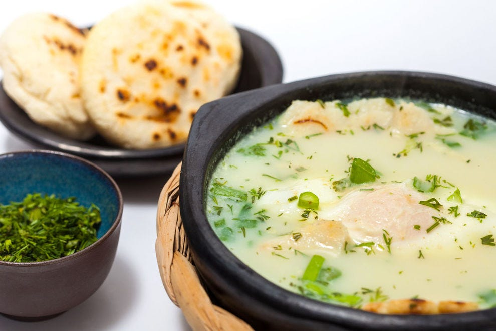 It only takes a few ingredients to make a hearty breakfast egg soup