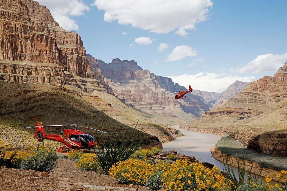 The majesty of the Grand Canyon is best appreciated from high above