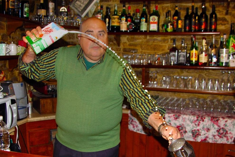 Skilled barista in Erice