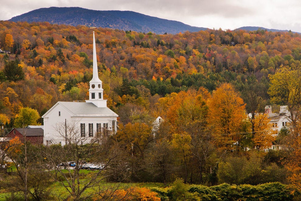 Gorgeous Stowe painted in fall colors