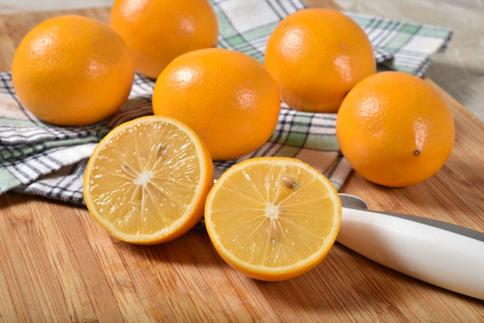 Meyer lemons have an herbal flavor