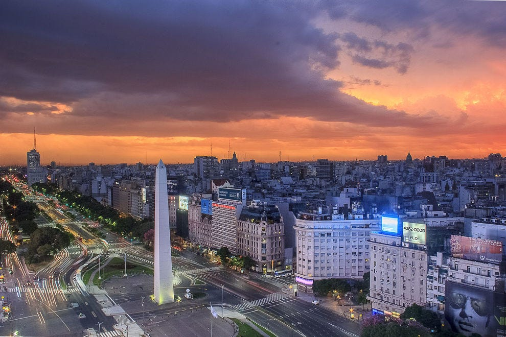 Obelisco y Av. 9 de Julio