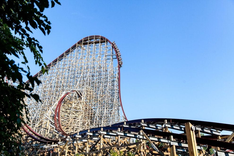 Winning coaster debuted as the world's tallest and fastest hybrid coaster