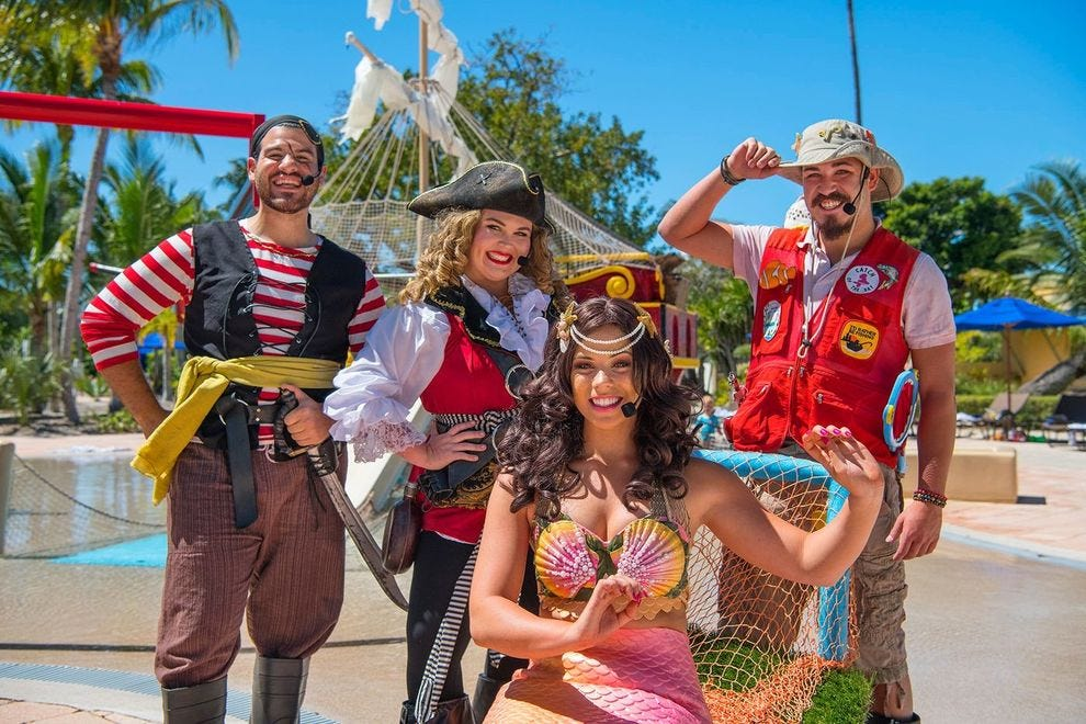 This family resort in the Florida Keys has a pirate pool just for families