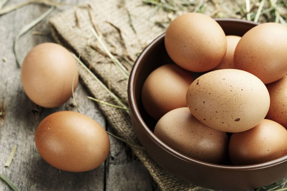 Brown eggs just look more rustic than white ones