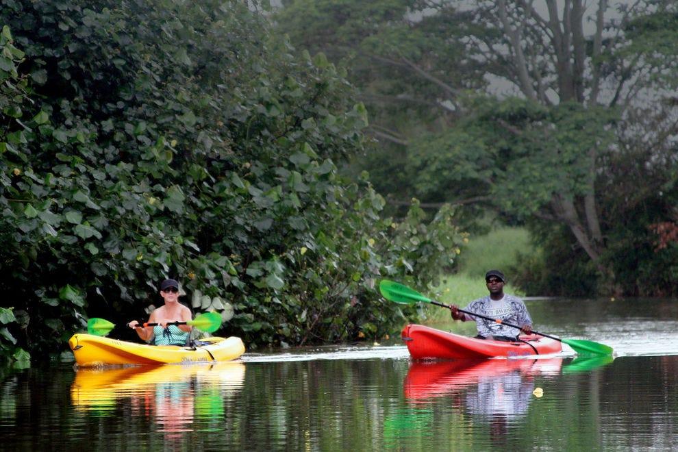 Kayaking the Hanalei River