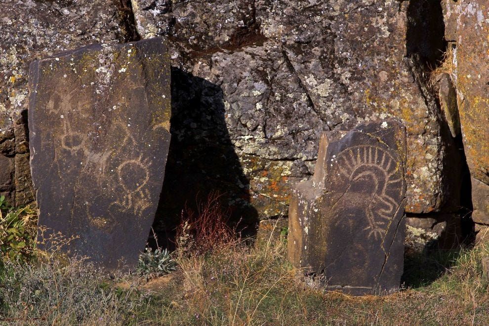 Petroglyphs in the Columbia River Gorge