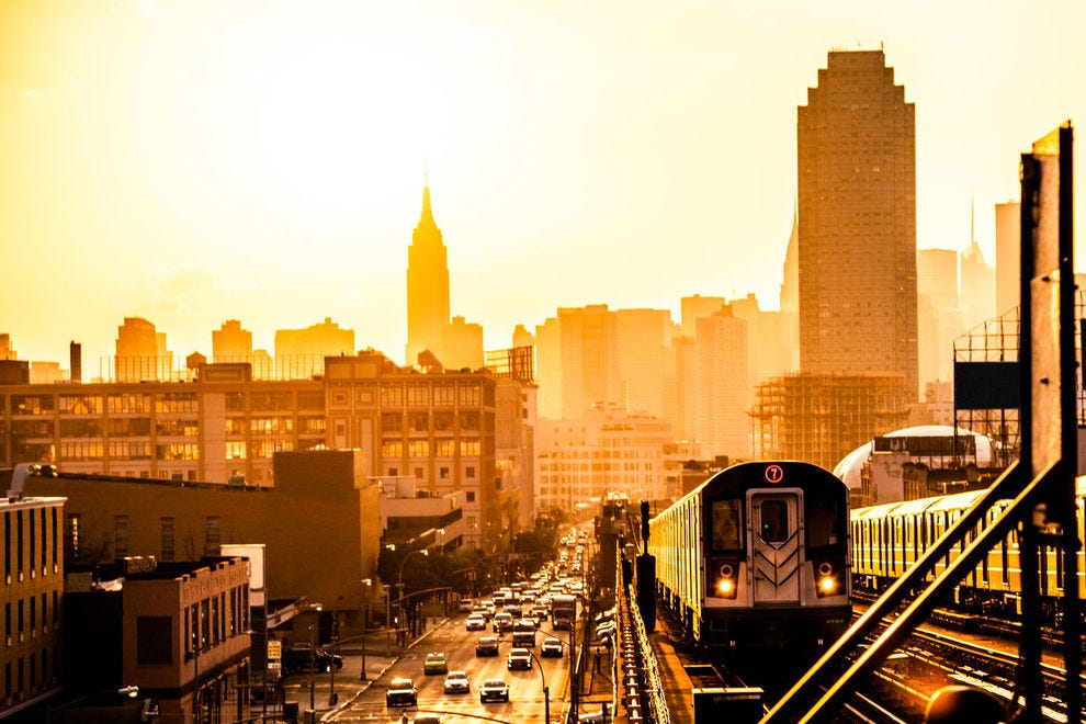Elevated railway in New York