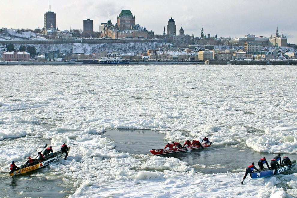 Frozen St. Lawrence River