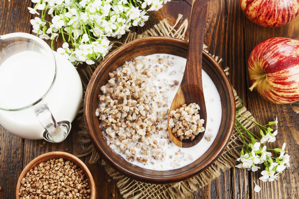 Start your day on a healthy note with a bowl of buckwheat