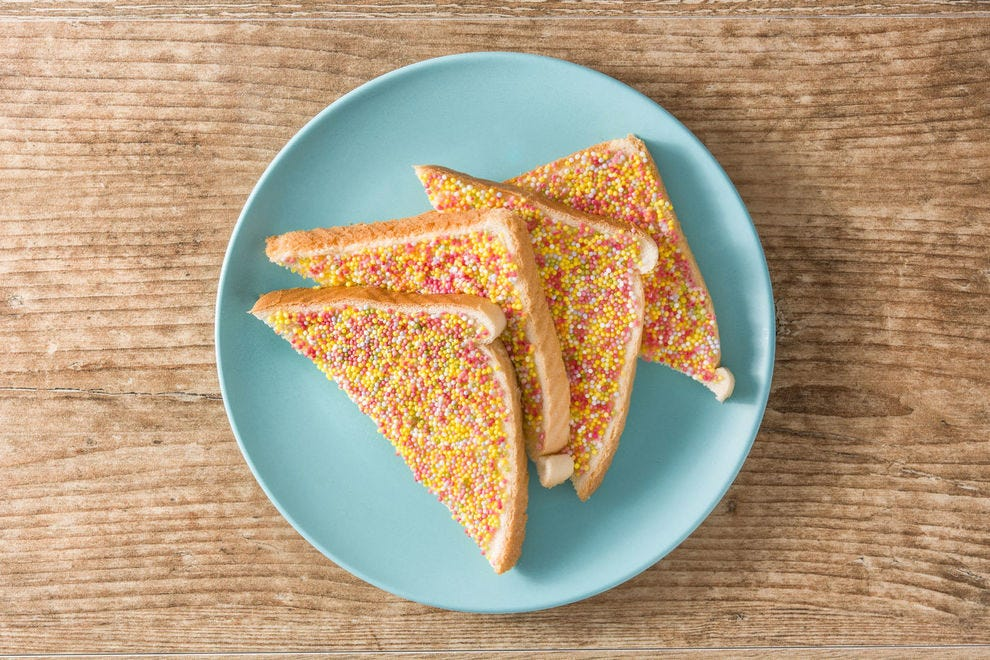 If not sliced into triangles, can you really call it fairy bread?