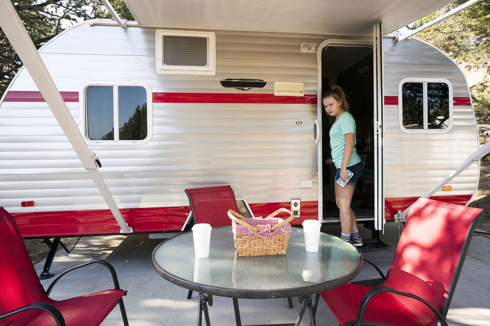 You don't need to own an RV to spend the night in one