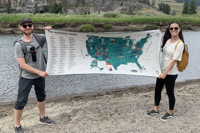 Nomadix 59 Parks Collection US Map Towel