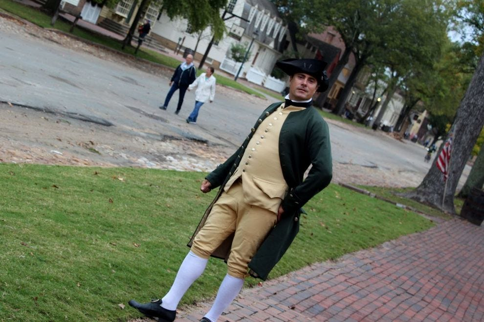 Man in Colonial costume