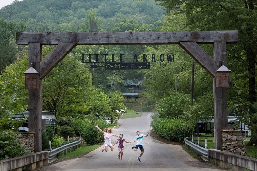 Sleep in style in the Great Smoky Mountains