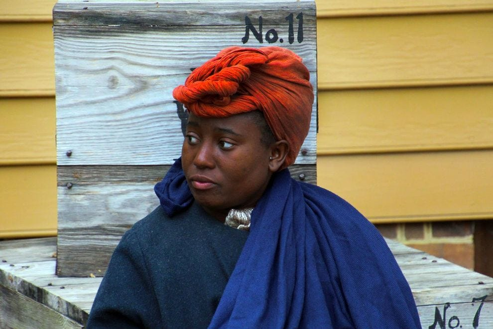 Black woman part of Williamsburg cast of actors