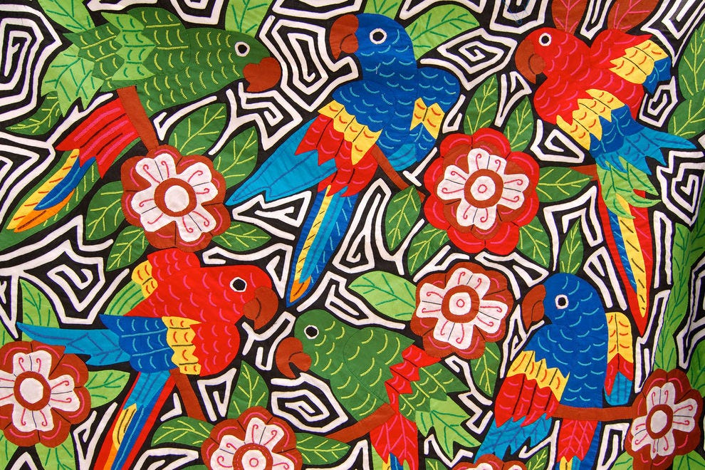Colorful textile from Panama