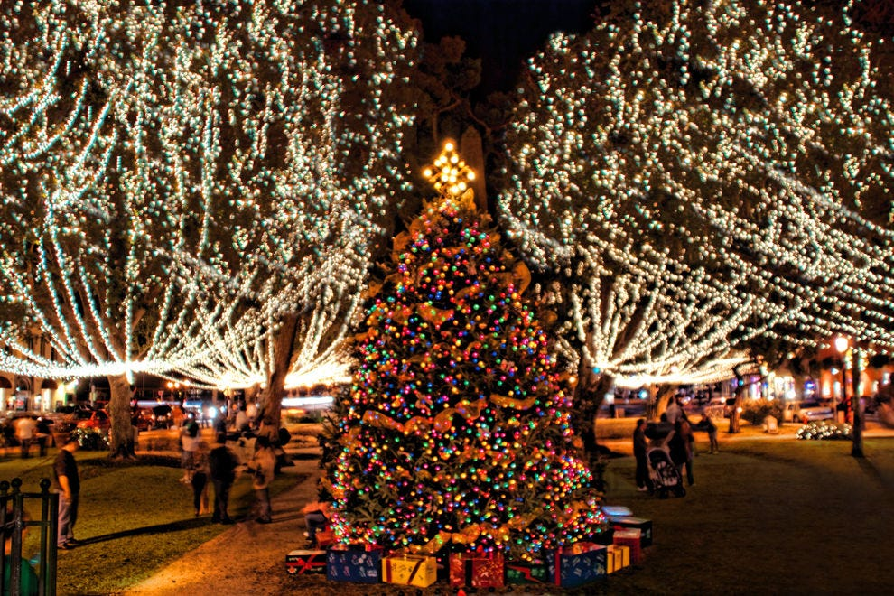 These lights displays shine brightly in December