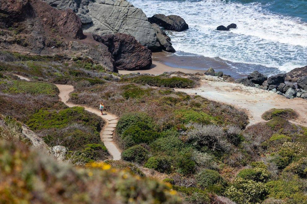 The Batteries to Bluffs Trail boasts stunning ocean views