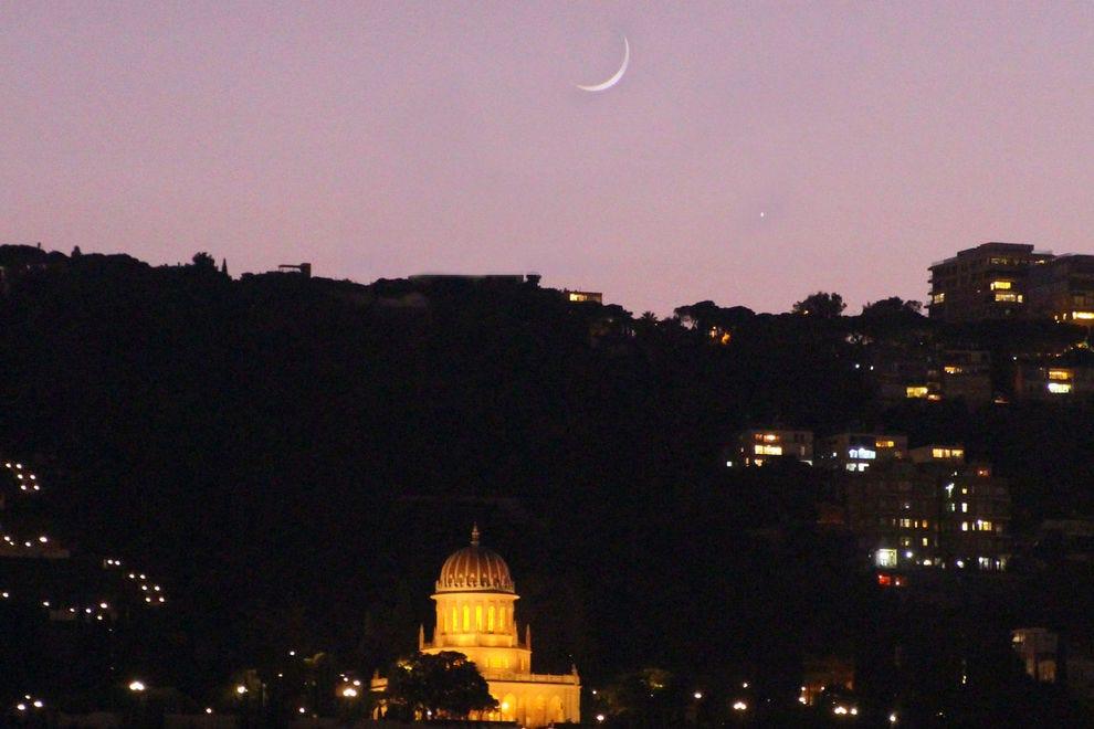 Moon over Haifa