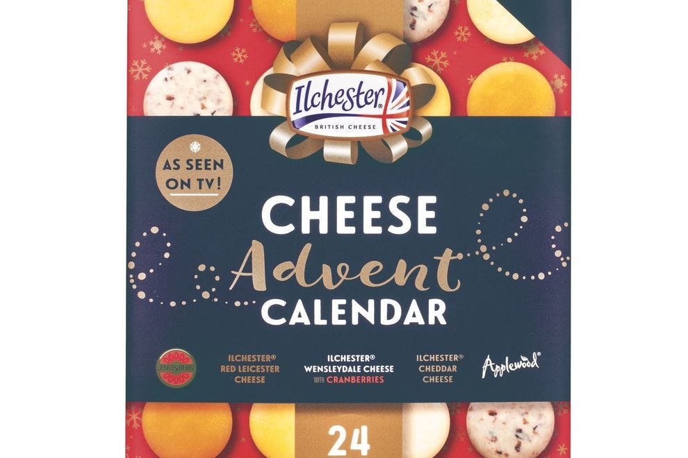 24 straight days of cheese, please!