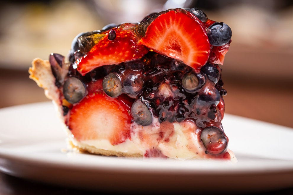 Bumbleberry pie is a colorful mix of fresh berries