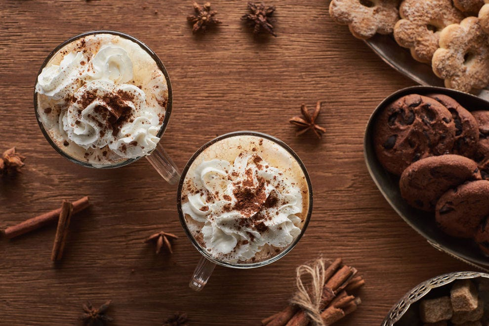 Hot cocoa with star anise
