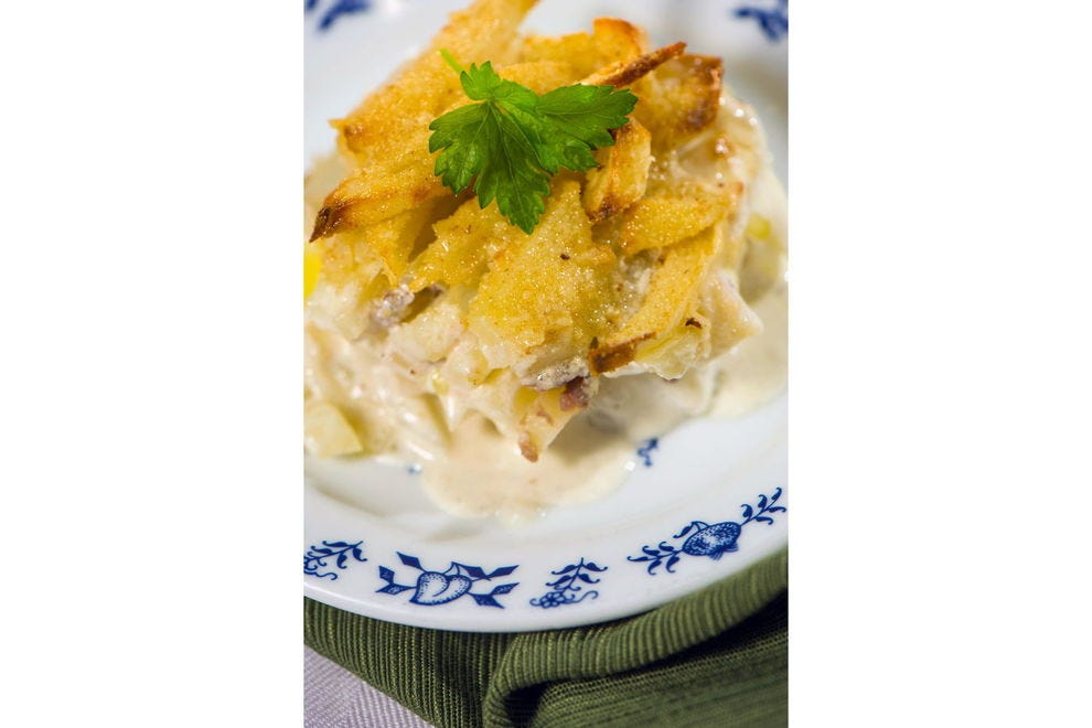Jansson's Temptation, a potato and anchovy casserole