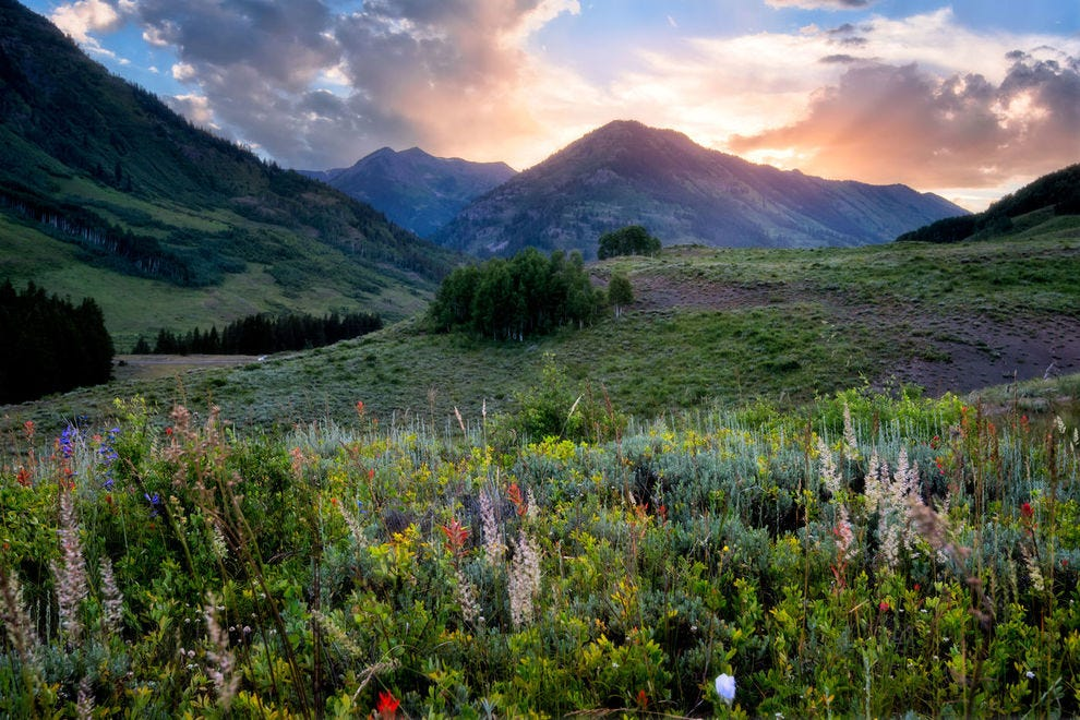 Sunset in Crested Butte, Colorado