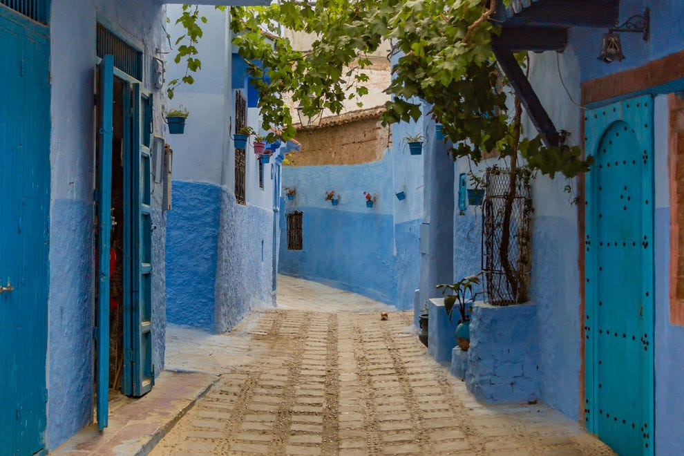 Alley in Chefchaouen, Morocco