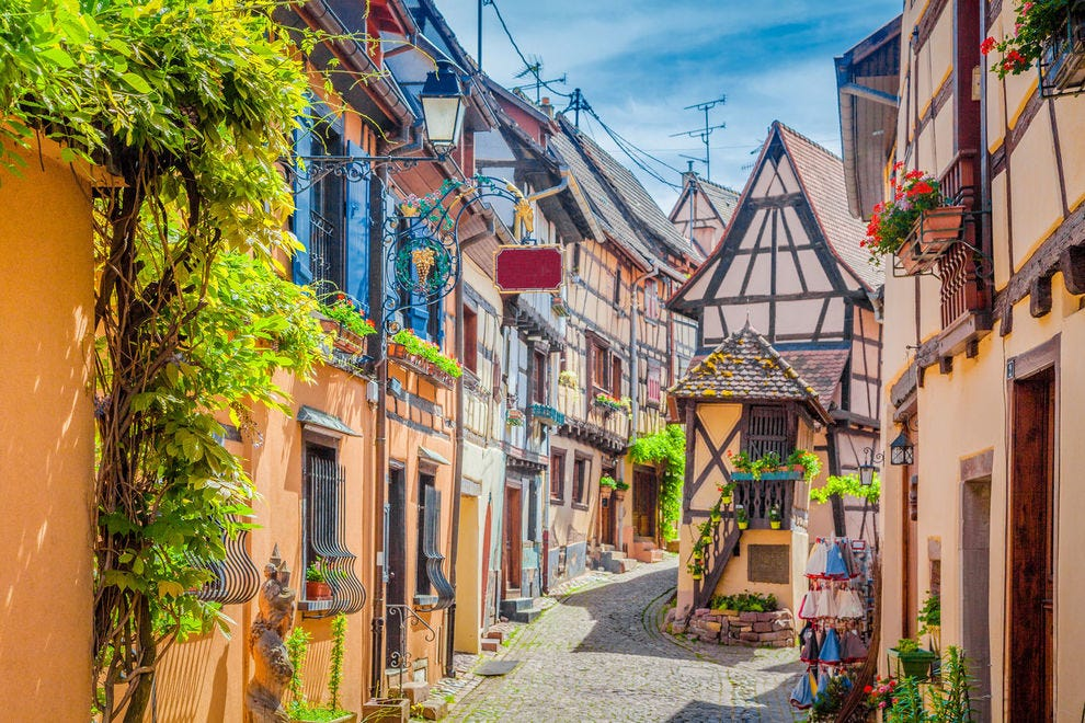 Alley in Alsace region of France
