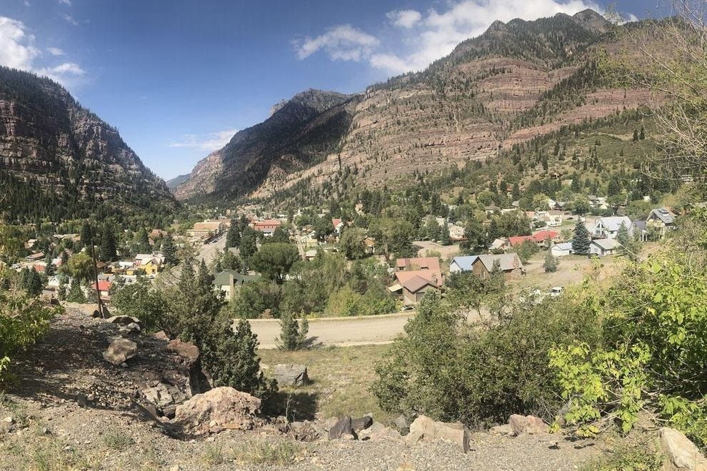 A view of Ouray from above
