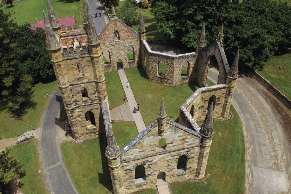 Aerial view of Port Arthur Historic Site