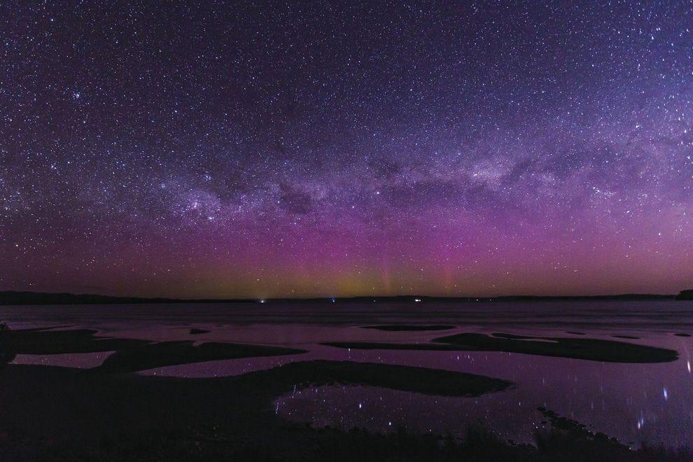 Aurora australis from Strahan